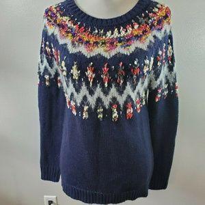 Maurices Size XS Sweater Blue Nordic Wool